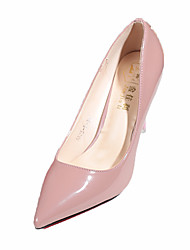 Women's Heels Comfort PU Spring Summer Casual Dress Comfort Stiletto Heel Black Light Grey Ruby Blushing Pink 2in-2 3/4in