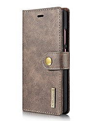 cheap -Solid Color Two-in-One Genuine Leather Cowhide Mobile Phone Holster for Huawei P9 Mate9