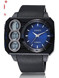 Pánské Sportovní hodinky Módní hodinky Náramkové hodinky Vojenské hodinky Digitální hodinky Křemenný Digitální Pravá kůže Kapela Na běžné