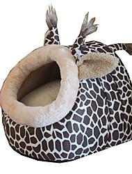 Cat Dog Car Seat Cover Bed Pet Cushion & Pillows Leopard Breathable Foldable Soft Leopard For Pets