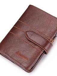 cheap -Men's Bags Cowhide Bi-fold / Wallet Ruffles for Shopping / Outdoor Brown