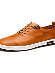 cheap -Men's Oxfords / New Style / Leisure / Comfort/ Casual / Leather / Black / Brown / Yellow / Hot Sale