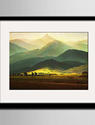 E-HOME® Framed Canvas Art, Mountain Range Framed Canvas Print One Pcs