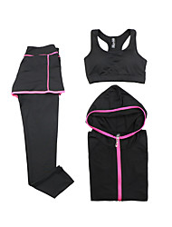 Women's Tracksuit Quick Dry Breathable Sports Bra Hoodie Pants / Trousers Clothing Suits Top for Yoga Exercise & Fitness Running Modal