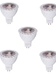 cheap -5pcs 4W 400-500 lm GU5.3(MR16) LED Spotlight MR16 1 leds COB Decorative Warm White Cold White DC 12V