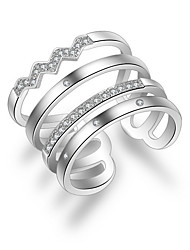 cheap -Women's Silver Plated Alloy Knuckle Ring Band Ring - Fashion For Wedding Party Daily Casual
