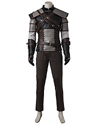 cheap -Inspired by Assassin Ace Video Game Cosplay Costumes Cosplay Suits Cosplay Tops/Bottoms Patchwork Coat Vest Armlet Belt More Accessories