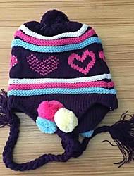 Bambine Cappelli e berretti Inverno Maglia-Blu Viola