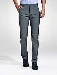 abordables -Homme Rétro Grandes Tailles Mince Entreprise Chino Pantalon Couleur Pleine