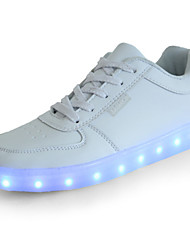 cheap -Girls' Shoes PU Spring Comfort / Novelty / Light Up Shoes Sneakers LED for White / Black