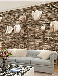 Недорогие -Ар деко 3D Украшение дома Современный Облицовка стен, холст материал Клей требуется фреска, Обои для дома