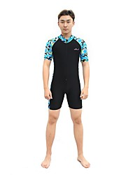 BlueDive® Women's Men's Unisex Wetsuit Skin Shorty Wetsuit Wetsuits Dive SkinsQuick Dry Ultraviolet Resistant Front Zipper Four-way