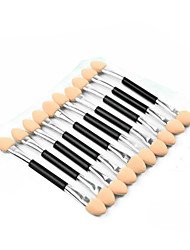 10Pcs Makeup Double-End Eye Shadow Brush Sponge Applicator Tool