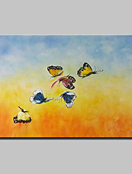 Hand-Painted Animal Oil Painting On Canvas Modern Abstract Butterfly Wall Art Picture For Home Decoration Ready To Hang