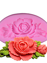 cheap -Roses Silicone Cake Mold Baking Tools Kitchen Accessories Fondant Chocolate Mould Sugarcraft Decoration Tools