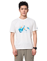 Makino Homme Tee-shirt de Randonnée Extérieur Respirable Limite les Bactéries Tee-shirt Hauts/Top Camping / Randonnée Pêche Escalade