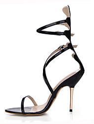 cheap -Women's Sandals Summer Comfort Light Up Shoes PU Dress Casual Party & Evening Stiletto Heel Black