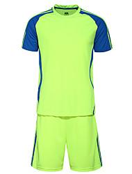 Per uomo Calcio Pantaloncini /Cosciali Maglietta/Maglia Set di vestiti Traspirante Comodo Estate Collage Terylene Calcio