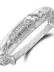 Bracelet Bracelets Rigides Argent sterling Amour Mode Anniversaire Fiançailles Mariage Soirée Regalos de Navidad Bijoux Cadeau Argent,1pc