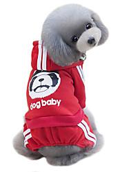 Hund Mäntel Kapuzenshirts Hundekleidung Niedlich Modisch Sport Solide Gelb Fuchsia Rot Blau Schwarz Kostüm Für Haustiere