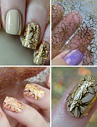 1 Adesivos para Manicure Artística Autocolantes de Unhas 3D maquiagem Cosméticos Designs para Manicure