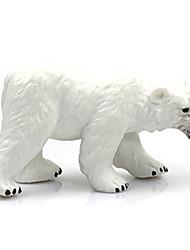 baratos -Urso Urso polar Modelos de exibição Animais Criativo Simulação Clássico Policarbonato Plástico Para Meninas Dom 1pcs