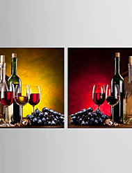 Canvas Set Leisure Food Modern Realism,Two Panels Canvas Square Print Wall Decor For Home Decoration