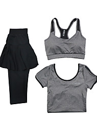 Women's Tracksuit Long Sleeves Quick Dry Breathable Sports Bra T-shirt Pants / Trousers Clothing Suits Top for Yoga Exercise & Fitness