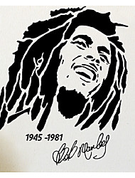 cheap -Bob Marley 1945 -1981 Wall Stickers Famous Singer Wall Decals For Kids