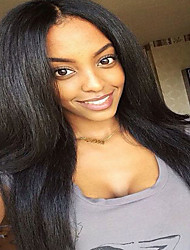 Natural Color 7a Virgin Human Hair Glueless Lace Front Hair Wig Wholesale For Black Woman High Quality