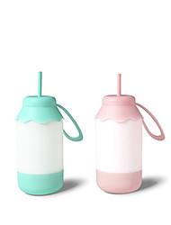 1pc portable couleur bleu / rose usb chambre bébé bouteilles de lait de lumière de nuit chargée dorment conduit la table ampoule veilleuse