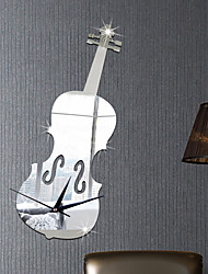 Violin Clock Sticker DIY Mirror Wall Stickers Home Decoration Wall Decal