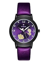 abordables -Femme Quartz Montre Bracelet / Grosses soldes Polyuréthane Bande Décontracté Mode Noir Rouge Violet