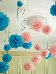 cheap -10Pcs   25Cm*25Cm   Cheap  Paper Flower Balls For Home Wedding Party Car Decoration  Crafts