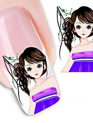 1 Nail Art samolepka Voda na přestupy Nálepky make-up Kosmetické Nail Art design
