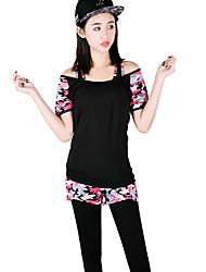 Per donna T-shirt e pantaloni da corsa Manica corta Asciugatura rapida Traspirante Set di vestiti per Yoga Esercizi di fitness Corsa