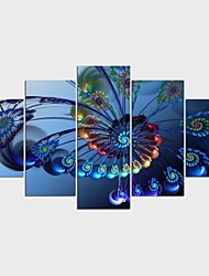 Stretched Canvas Print Landscape Fantasy Modern Classic,Five Panels Canvas Any Shape Print Wall Decor For Home Decoration