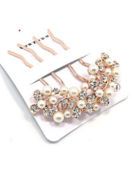 Golden Pearl Hair Combs Hair Jewerly for Wedding Party Lady
