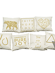 Set of 7 Modern simple geometric  Quotes & Sayings  pattern   Linen Pillowcase Sofa Home Decor Cushion Cover