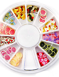 cheap -Mixed Color Soft Pottery Mini Ice Cream Cake Nail Art Decoration