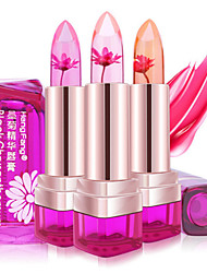 cheap -1Pcs Temperature Change Color Lip Balm 3 Color Waterproof Long-Lasting Sweet Transparent Jelly Flower Pink Moisturizer Lipstick