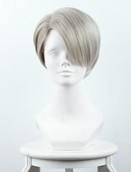 cheap -Synthetic Cosplay Wigs OUO HAIR Wig Ice on the Yuri / YURI !!! on ICE Viktor Nicky Fu Luofu Mixed Cyan / Grandma Gray Heat Friendly Fiber