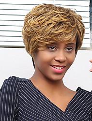 новый пушистый простой Преобладающий цвет смешивания парик человеческих волос