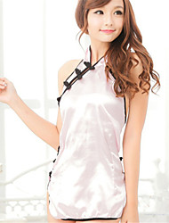 Недорогие -Для женщин Ультра-секси Форма / чонсам Костюм Ночное белье Пэчворк Ice Silk (искусственное волокно) Розовый