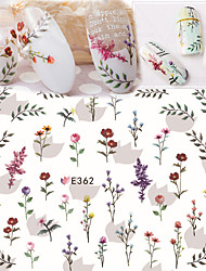 cheap -1 pcs Ultra  Thin Fresh Flower Nail Stickers