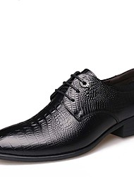 cheap -Men's Formal Shoes Leather Spring / Fall Comfort / Fashion Boots Oxfords Waterproof Black / Brown / Party & Evening / Leather Shoes