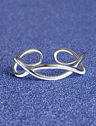 Ring Special Occasion Daily Casual Jewelry Alloy Silver Plated Ring Midi Rings Band Rings 1pcOne Size Silver