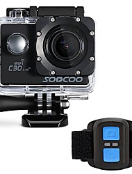 economico -C30R Action cam / Sport cam Wi-Fi 4K 120fps 30fps 24fps 240fps 60fps 2 128 GB 30 M Universali Auto Wakeboard Sub e immersioni Moto