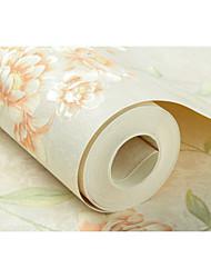 Fleur arbres/Feuilles Fond d'écran pour la maison Rustique Revêtement , Non-tissé papier Matériel adhésif requis fond d'écran , Couvre