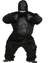 Inspired by Cosplay Men's Adult Gorilla Animal CostumeSuits Solid Black Long Sleeve Leotard For Unisex